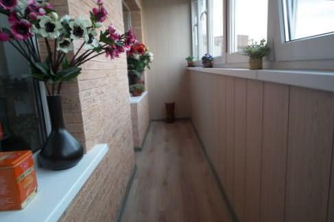 Применение стеропора для отделки лоджии. - окна и балконы - .