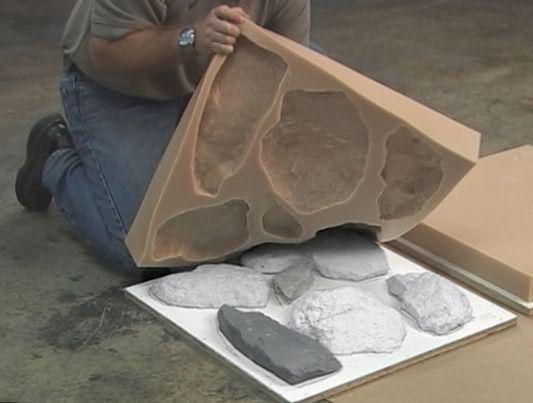 изготовление искусственного камня из гипса